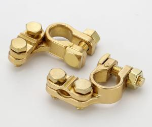 Angle Type Brass Battery Terminal with Copper Plating